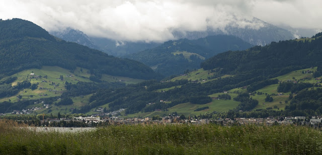Mountain scenery near Rapperswil, Switzerland