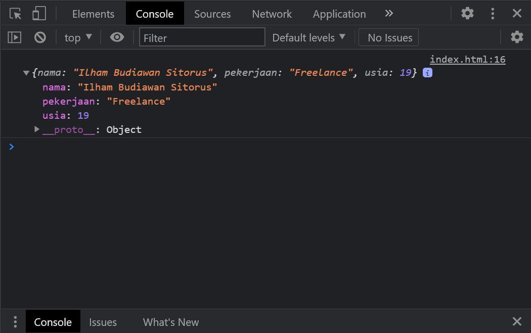Belajar JSON Pada Javascript