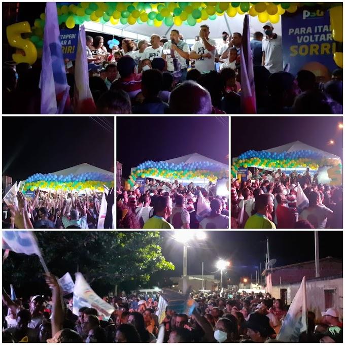 Itapebi: Candidato a prefeito Cláudio Carvalho pelo PSD realizou uma palestra no João Paulo II