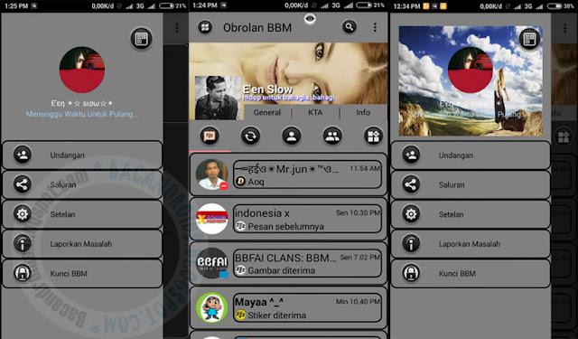BBM Mod Grey Theme v3.0.1.25 Apk Terbaru For Android
