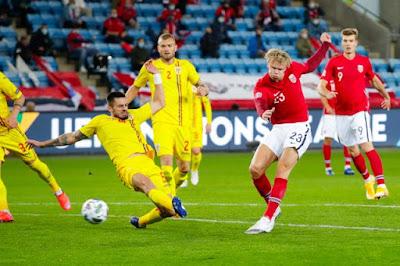 ملخص واهداف مباراة النرويج ورومانيا (4-0) دوري الامم الاوروبية