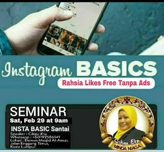 Seminar, Seminar 2020, Seminar Instagram, Instagram Basic, Instagram Advance, Belajar Instagram, Cikgu iEta, Kelas Cikgu Ieta, Kelas Instagram, Buat duit dengan Blog, Sales di Instagram, Ebook Instagram, Instagram mudah, Basic Instagram,
