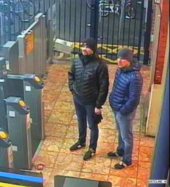 Envenenadores do ex espião russo Serguei Skripal e de sua filha Yulia, membros da unidade 29155, flagrados em Salisbury, Inglaterra