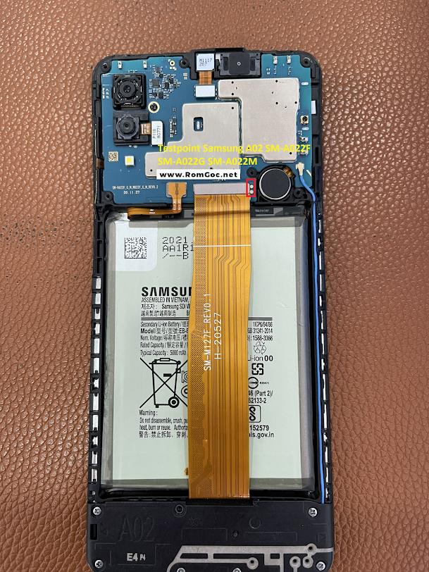 Testpoint Samsung M02 A022F, A022G, A022M