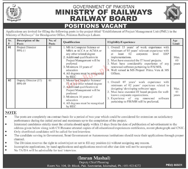 Ministry Of Railway Jobs 2021 How To Apply