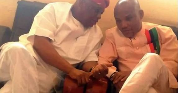 Nnamdi Kanu Threatens To Beat Orji Uzor Kalu If He Ever Tells Him to End Biafra Agitation