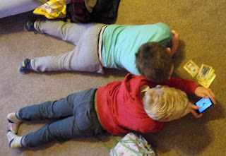 boys playing on carpet