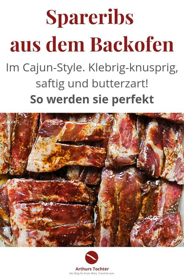 Spareribs aus dem Backofen im Cajun-Style, langsam gegart, saftig und schön knusprig-klebrig, wie sich das gehört!  #backofen #einlegen #rezepte #grillen #marinade #chinesisch #asiatisch #vorkochen #backofen #beilagen #foodblog #foodstyling #foodphtography #arthurstochter #schwein #rippchen #mexikanisch #schälrippchen #schweinefleisch #fleisch #smoker #321 #einfach #schnell #niedrigtemperatur #nt #sousvide #vorgaren #sterneküche