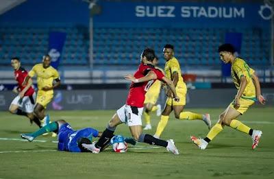ملخص اهداف مباراة مصر الاوليمبى وجنوب افريقيا (3-0) مباراة ودية