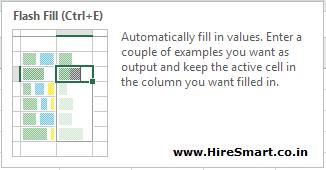 Excel Flash Fill Shortcut