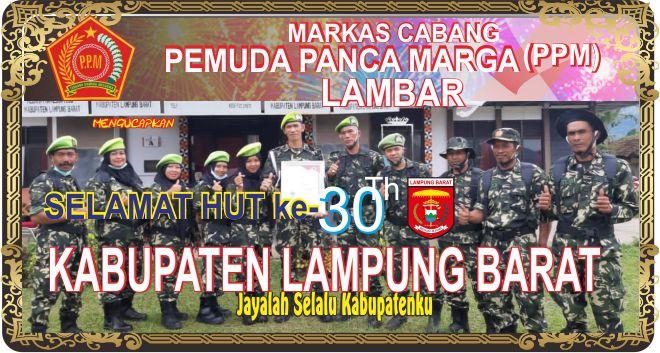 DPC Pemuda Panca Marga Lambar Mengucapkan Dirgahayu -30 Kabupaten Lampung Barat
