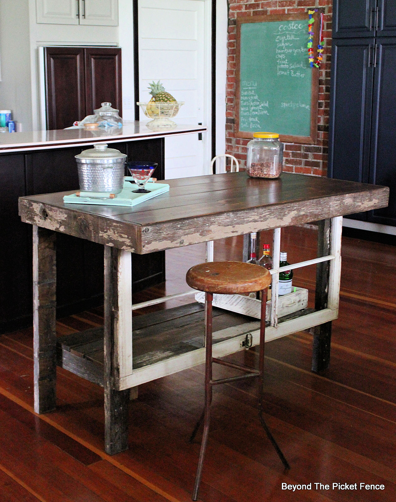 Beyond The Picket Fence: Rustic Farmhouse Kitchen Island and Bar