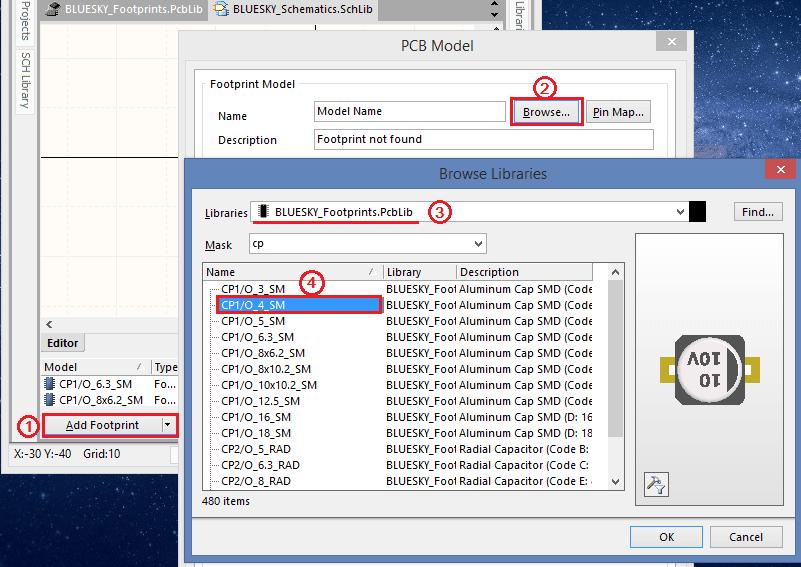 Lỗi không view được hình dáng 3D linh kiện 2
