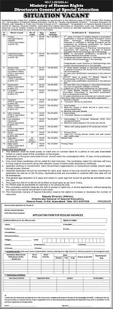 directorate-general-of-special-education-jobs-2020-application-form