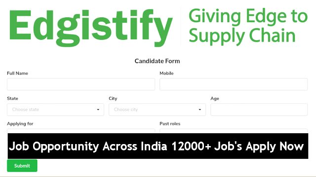Job Opportunity Across India 12000+ Jobs Apply Now