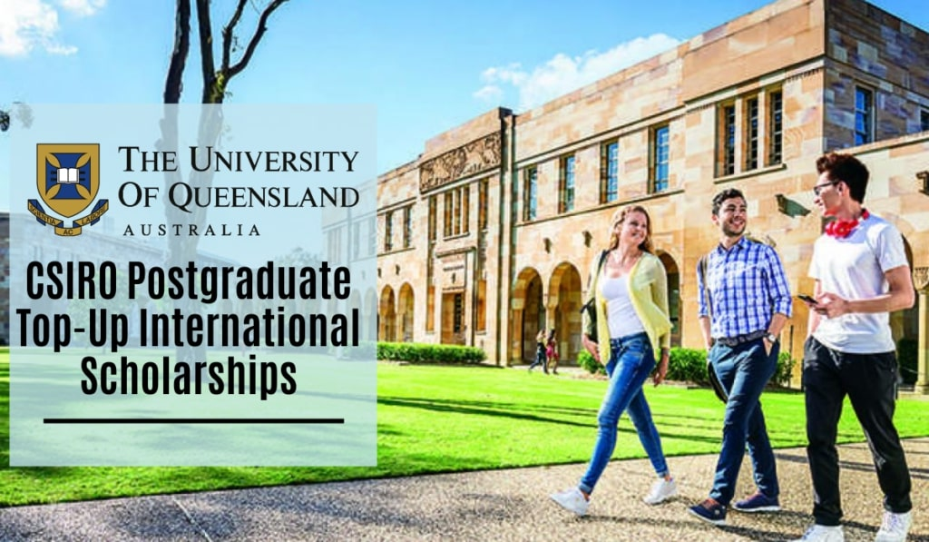 CSIRO Postgraduate Top-Up International Scholarships at University of Queensland in Australia, 2020