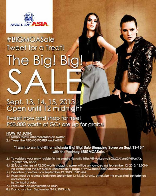 #BIGMOASale Tweet for a Treat: The Big! Big! Sale on Sept 13-15!