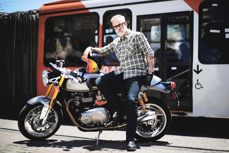 A Sergi Arola se le ocurren recetas de cocina mientras anda en moto