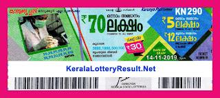 Kerala Lottery Result 14-11-2019 Karunya Plus KN-290