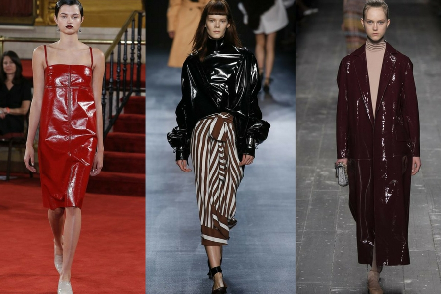 Autumn/Winter Trends 2016- Patent Leather, Vinyl Trousers/Pants