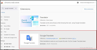 install google translate chrome