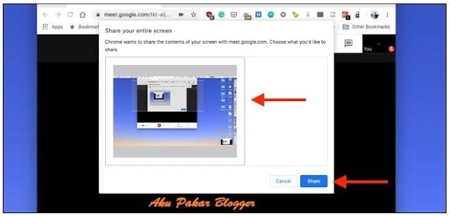 Cara Present dan Share Skrin di Google Meet