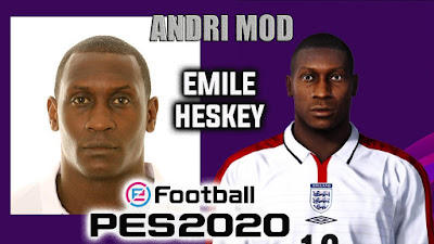 """PES 2020 Faces Emile """"Lord"""" Heskey by Andri Mod"""