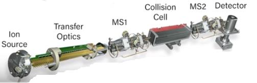 Tripal Quadrupole in mass spectrometer