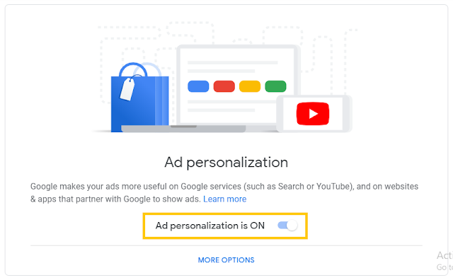 Stop Google showing you ads