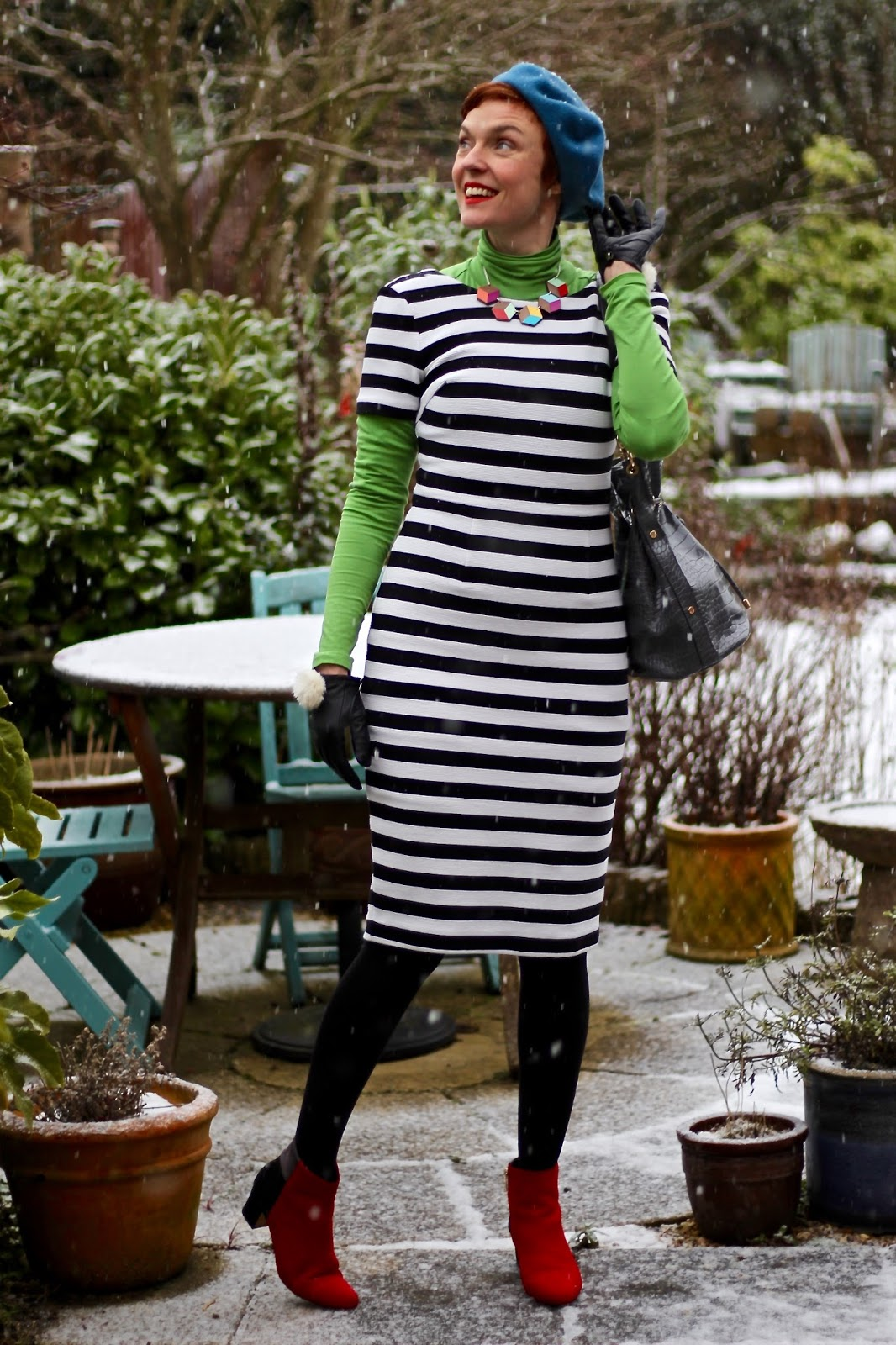 Boden Ottoman Dress & Bold Colours | Winter Style | Fake Fabulous
