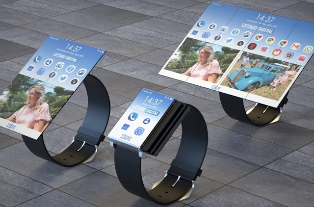 IBM patents watch that implausibly transforms into an 8-panel tablet