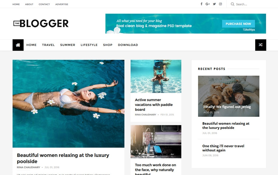 50+ Free Templates for Blogger | Free Responsive Templates for Blogger 2020