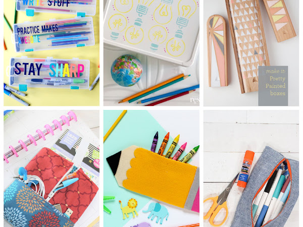 15+ DIY Pencil Cases / Holders to Make or buy