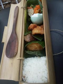bekal nasi wadah bambu
