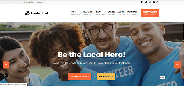 Nonprofit Fundraising & Charity WordPress Themes With Donation System   Lend A Hand