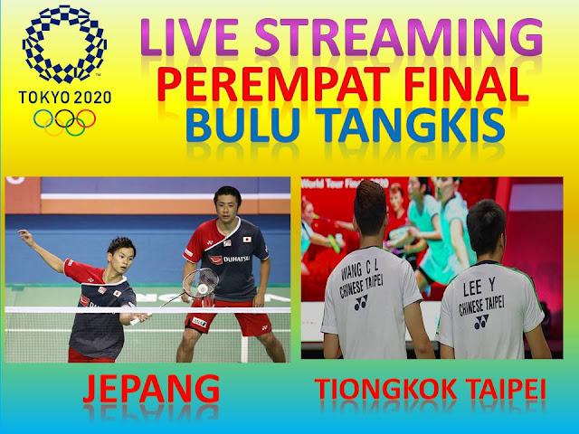 Link Live Streaming Olimpiade Perempat Final Badminton Ganda Putra : Y. Lee/C.L. Wang (Taipei) Vs H. Endo/Y. Watanabe (Japang) Jam 10.15 WIB
