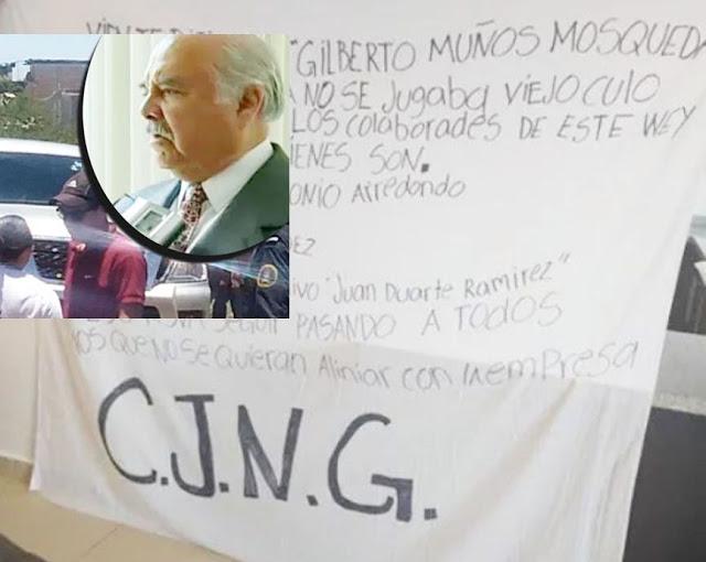 Con una Narcomanta El CJNG se adjudica ejecución de líder petrolero en Salamanca