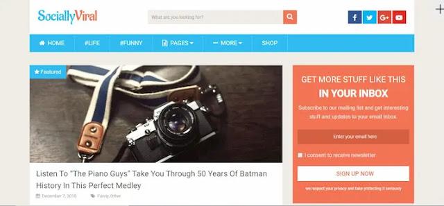 Create a Viral Website for Adsense Arbitrage: SociallyViral Theme