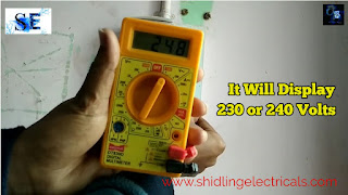 checking ac voltage in multimeter