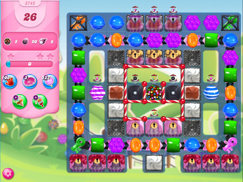 Candy Crush Saga level 3745