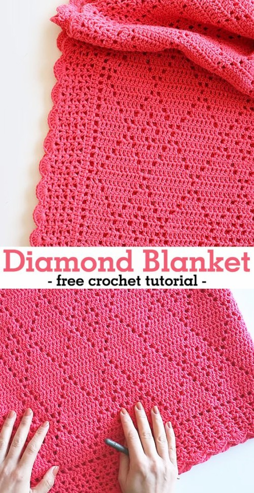 Diamond Blanket - Free Crochet Tutorial