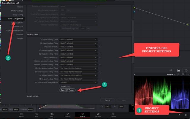 project settings e color management