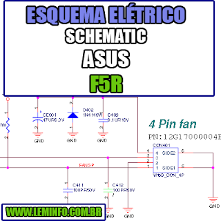 Esquema Elétrico Manual de Serviço Notebook Laptop Placa Mãe Asus F5R Schematic Service Manual Diagram Laptop Motherboard Asus F5R Esquematico Manual de Servicio Diagrama Electrico Portátil Placa Madre Asus F5R