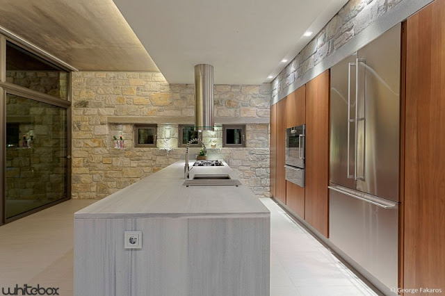 minimalist kitchen Stone House in Anavissos