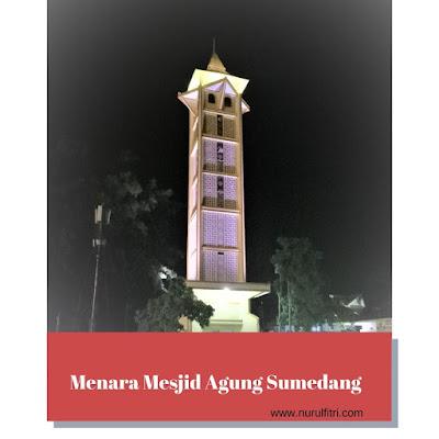 Menara di Masjid Agung Sumedang