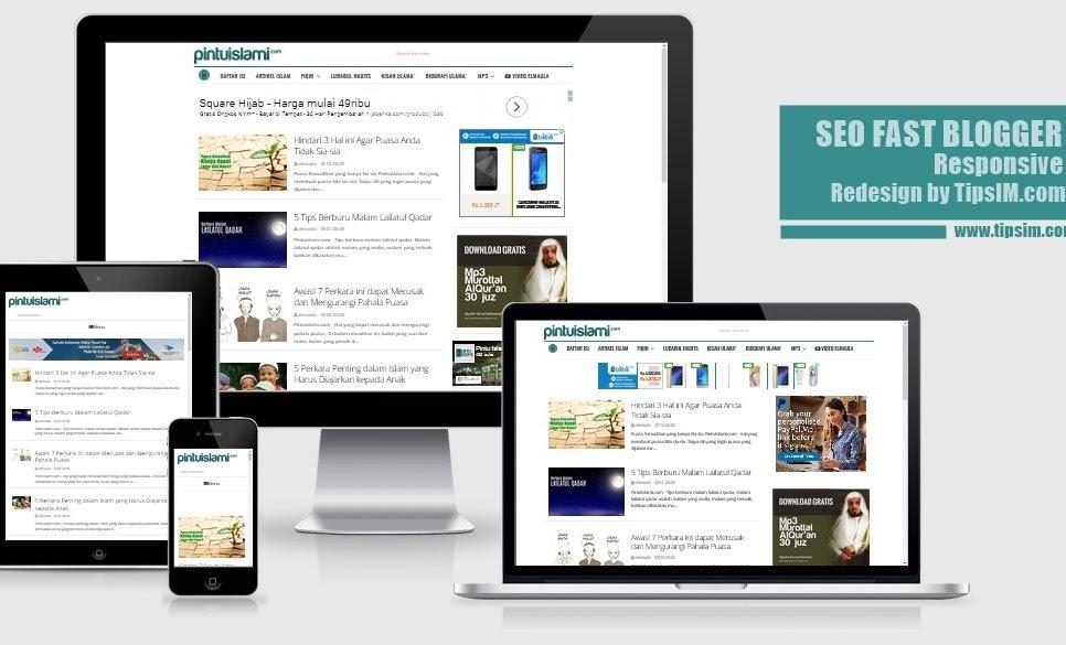 SEO Fast Blogger Template Responsive - Redesign by TipsIM.com