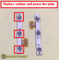 volume key and power key plate