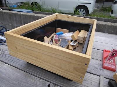 NVボックス 木枠 仮組み