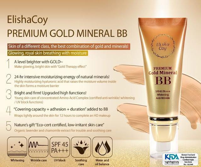 ElishaCoy Premium Gold Mineral BB Cream Ingredients & Claims