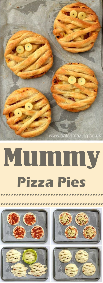 Puff Pastry Pizza Pies Mummy Puff Pastry Pizza Pies - fun Halloween food for ... These Halloween Mummy Pizza Bites are adorable and incredibly easy to make!